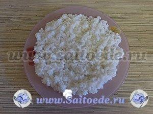 """Салат """"Мимоза"""" с рисом"""