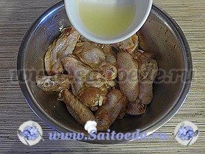 Куриные крылышки в медово - соевом соусе