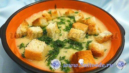 Куриный суп пюре с чечевицей