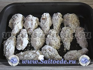 Куриные крылышки в кляре с кунжутом