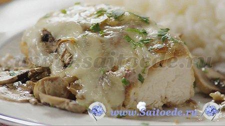 Курица с грибами запеченная в духовке