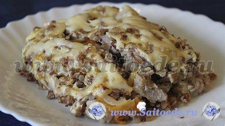 Запеканка из гречки с фаршем в духовке