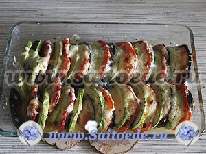 Овощи запеченные в духовке с сыром
