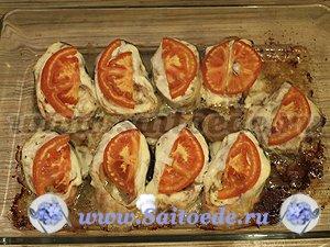 Горбуша запеченная с помидорами и сыром в духовке рецепт с пошагово